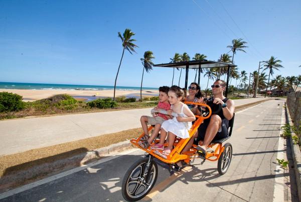 praia imbassai - bicicleta